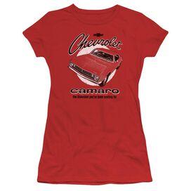 Chevrolet Retro Camaro Short Sleeve Junior Sheer T-Shirt