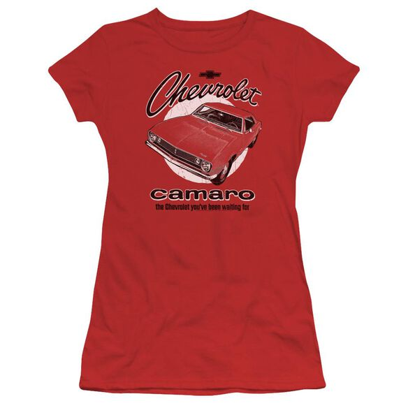 Chevrolet Retro Camaro Short Sleeve Junior Sheer T-Shirt