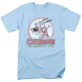 COURAGE THE COWARDLY DOG VINTAGE COURAGE - S/S ADULT 18/1 - LIGHT BLUE T-Shirt