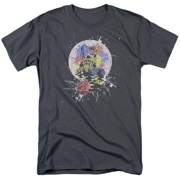 Dennis The Menace Paint Short Sleeve Adult Charcoal T-Shirt