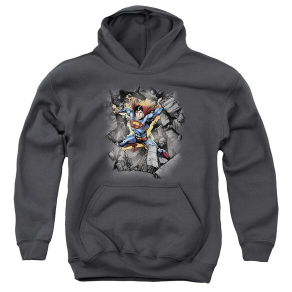 Superman Break On Through Youth Pull Over Hoodie