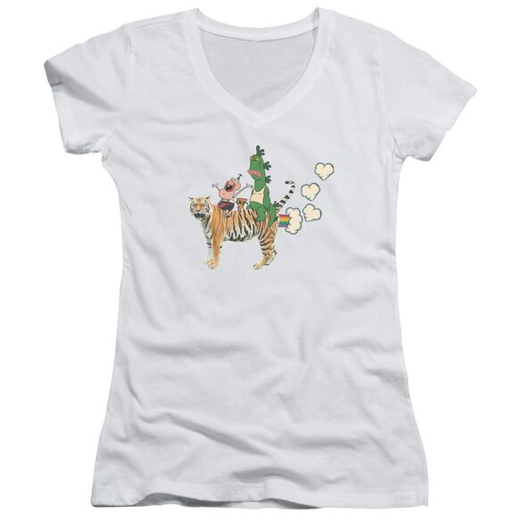 Uncle Grandpa Fart Hearts Junior V Neck T-Shirt