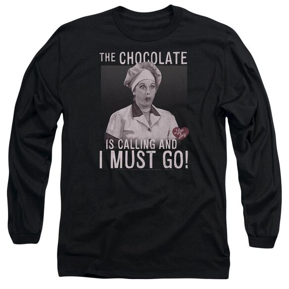 I Love Lucy Chocolate Calling Long Sleeve Adult T-Shirt