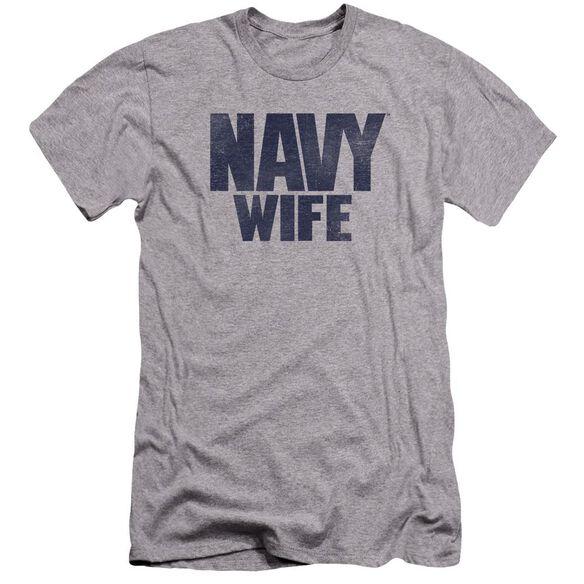 Navy Wife Premuim Canvas Adult Slim Fit Athletic