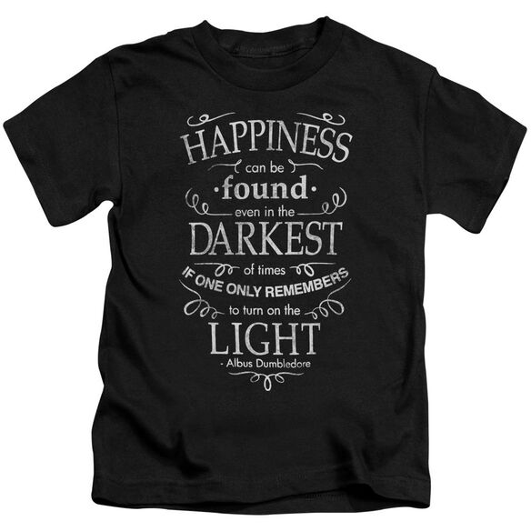 Harry Potter Happiness Short Sleeve Juvenile Black T-Shirt