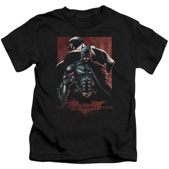 Dark Knight Rises Batman & Bane Short Sleeve Juvenile Black T-Shirt