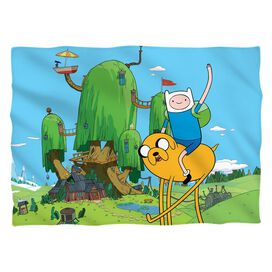 Adventure Time Best Bros (Front Back Print) Pillow Case White