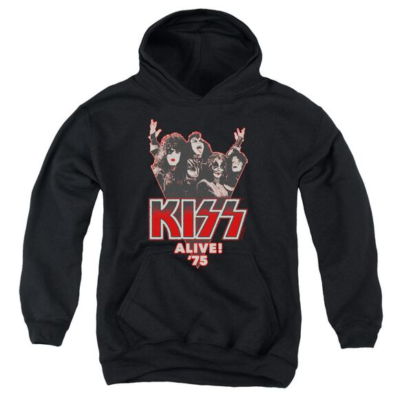 Kiss Alive 75 Youth Pull Over Hoodie