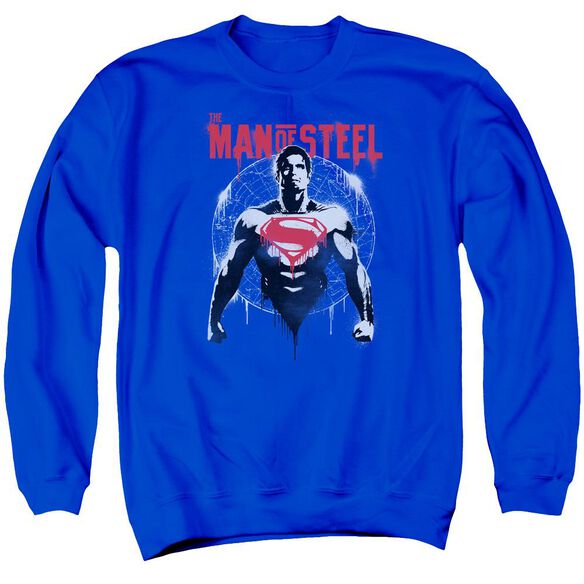 Batman V Superman Super Spray Adult Crewneck Sweatshirt Royal