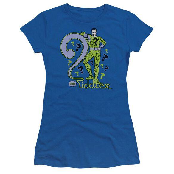 Dc The Riddler Short Sleeve Junior Sheer Royal T-Shirt