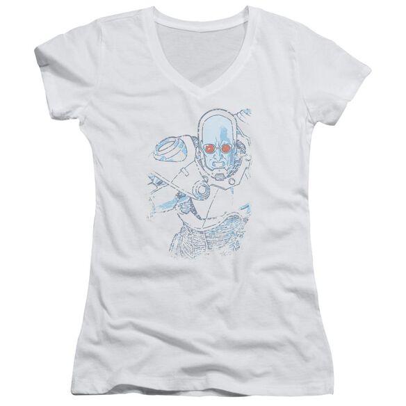 Batman Snowblind Freeze Junior V Neck T-Shirt