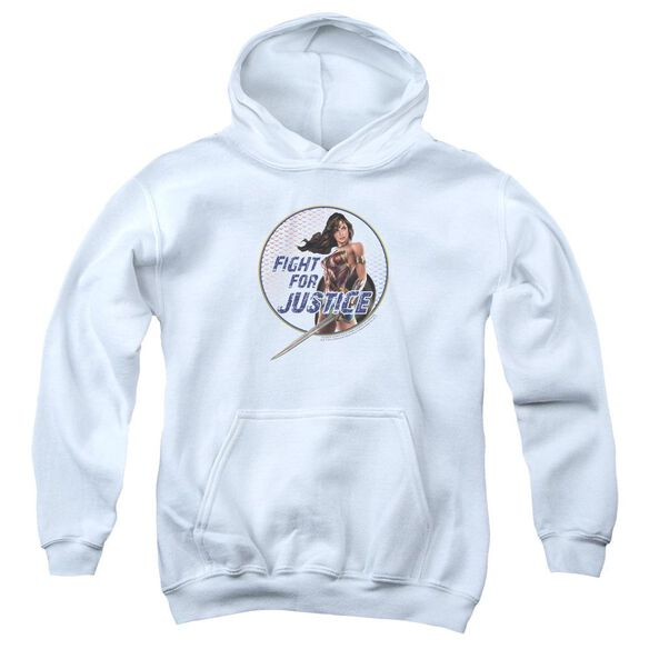 Wonder Woman Movie Fight For Justice Youth Pull Over Hoodie