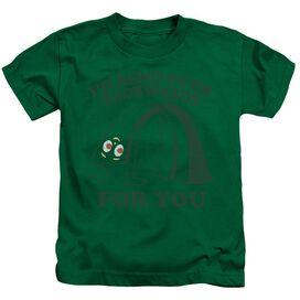 Gumby Bend Backwards Short Sleeve Juvenile Kelly Green T-Shirt