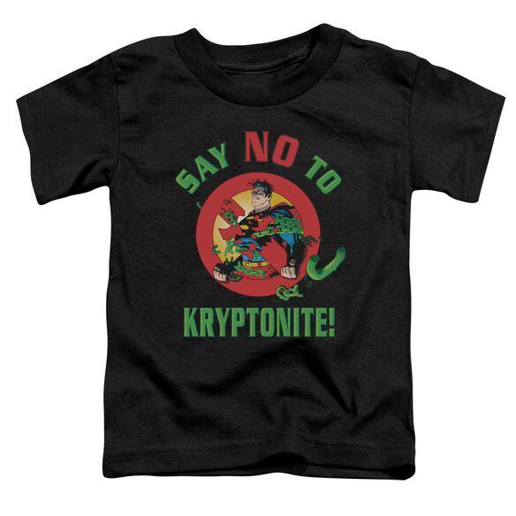 SUPERMAN SAY NO TO KRYPTONITE - S/S TODDLER TEE - BLACK - T-Shirt