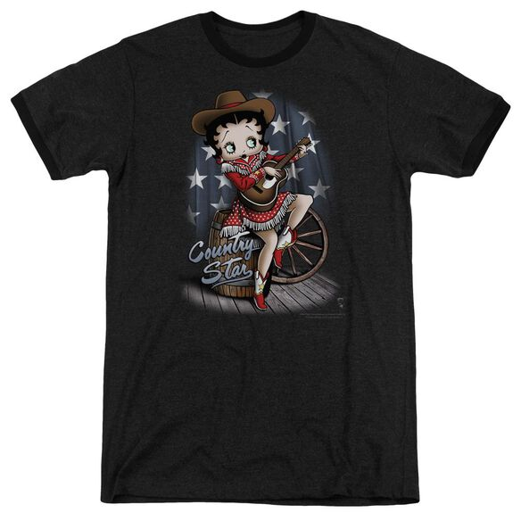 Betty Boop Country Star Adult Heather Ringer