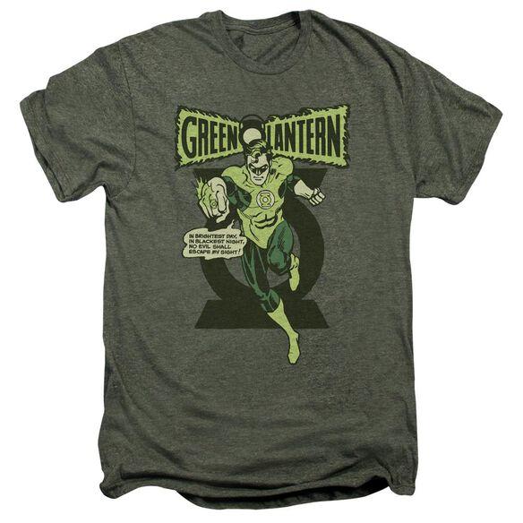 Green Lantern Retro Oath Short Sleeve Adult Premium Tee Moss T-Shirt