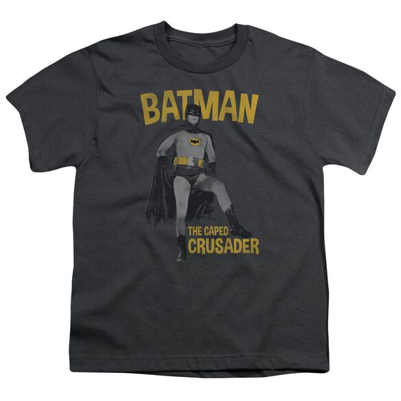 Batman Classic Tv Caped Crusader Short Sleeve Youth T-Shirt