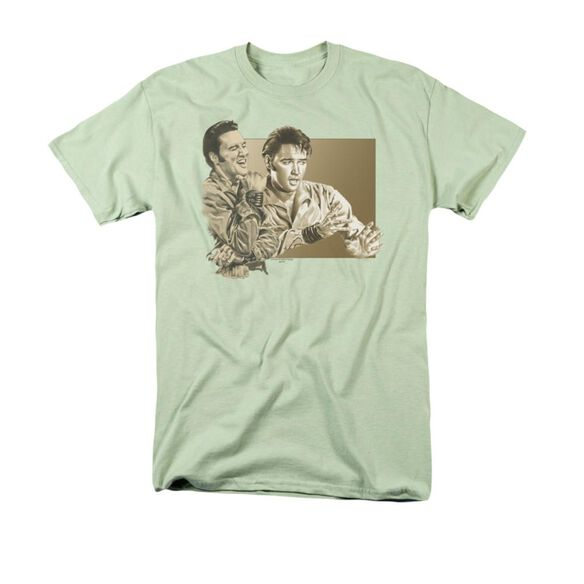 Elvis My Boy Green Short Sleeve Adult Soft Green T-Shirt