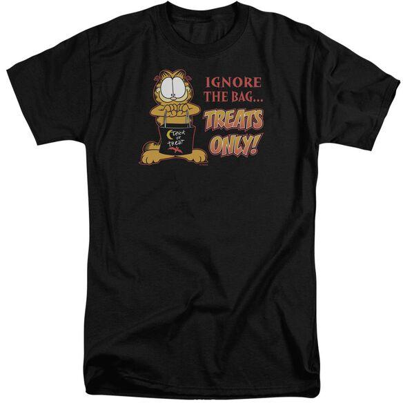 Garfield Treats Only Short Sleeve Adult Tall T-Shirt