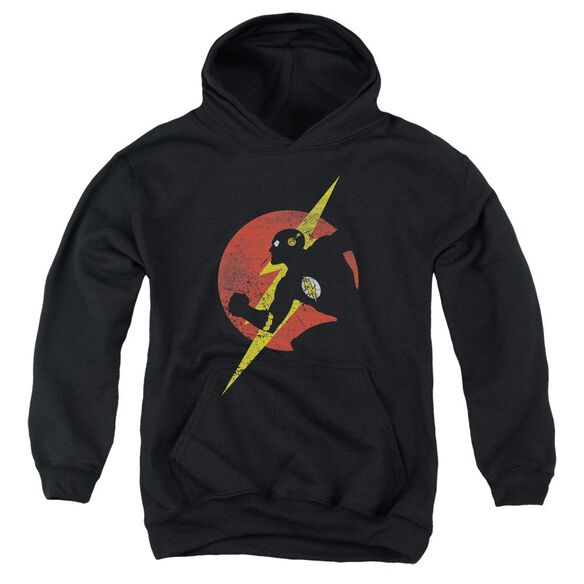 Jla Flash Symbol Knockout Youth Pull Over Hoodie