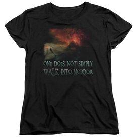 Lor Walk In Mordor Short Sleeve Womens Tee T-Shirt