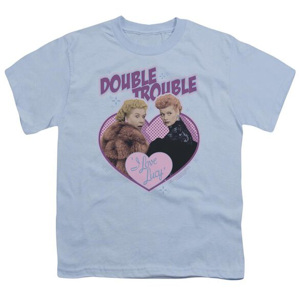 I Love Lucy Double Trouble Short Sleeve Youth Light T-Shirt