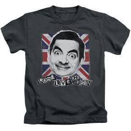 Mr Bean Long Live Short Sleeve Juvenile Charcoal Md T-Shirt
