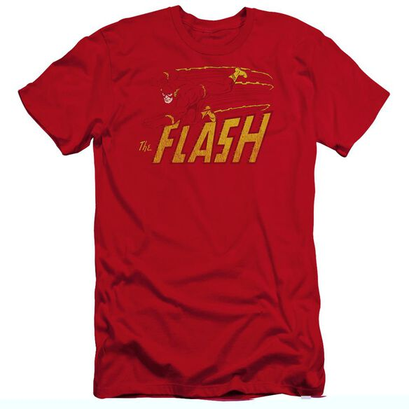 Dc Flash Flash Speed Distressed-premuim Canvas Adult Slim