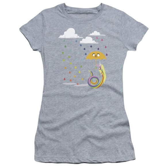 Adventure Time Lady In The Rain Short Sleeve Junior Sheer Athletic T-Shirt