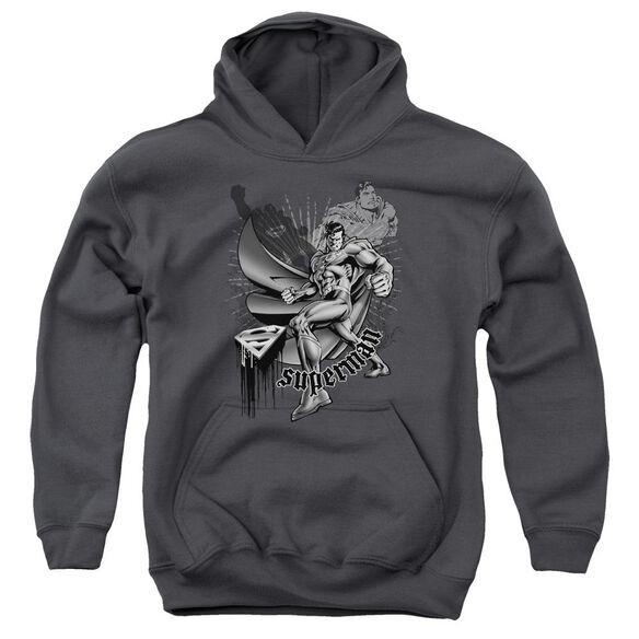 Superman Fight And Flight Youth Pull Over Hoodie