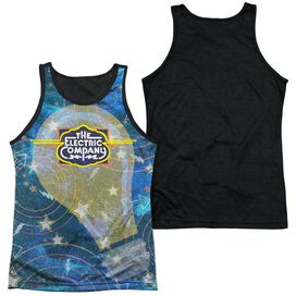 Electric Company Electrifying Adult Poly Tank Top Black Back