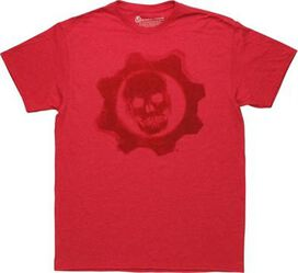 Gears of War Omen Logo Heathered Red T-Shirt