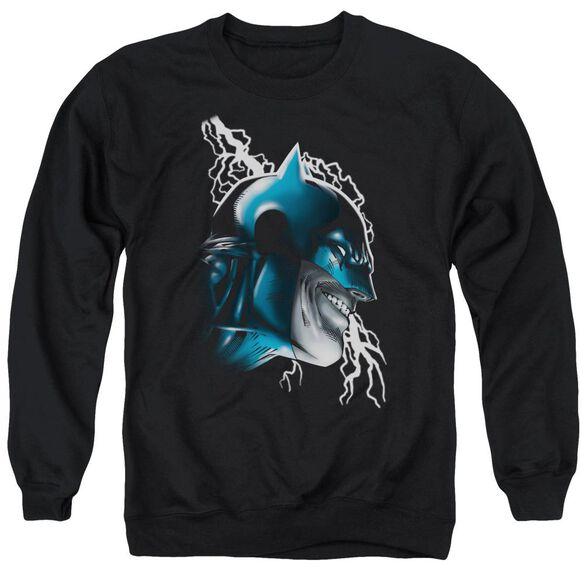 Batman Crazy Grin - Adult Crewneck Sweatshirt - Black