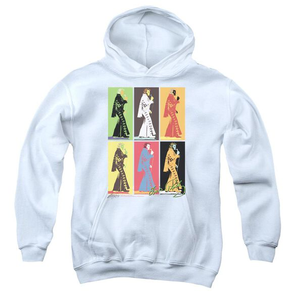 Elvis Presley Retro Boxes Youth Pull Over Hoodie