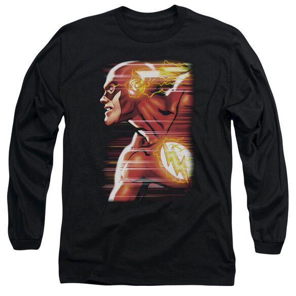 Jla Speed Head Long Sleeve Adult T-Shirt