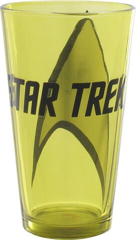 Star Trek Name and Starfleet Logo Pint Glass