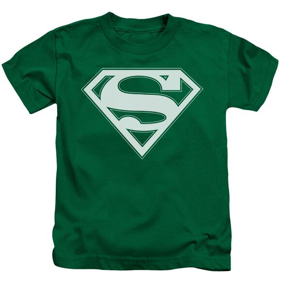 Superman Green & White Shield Short Sleeve Juvenile Kelly Green Md T-Shirt