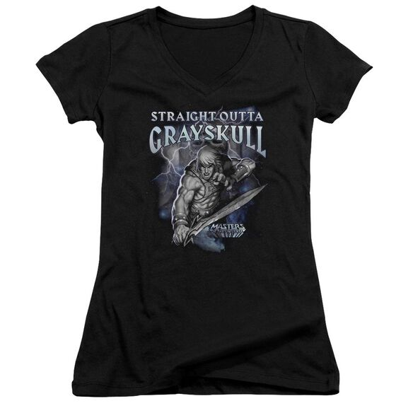 Masters Of The Universe Straight Outta Grayskull Junior V Neck T-Shirt