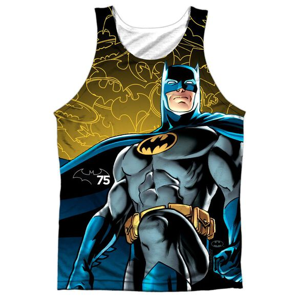 Batman 75 Glow Adult 100% Poly Tank Top
