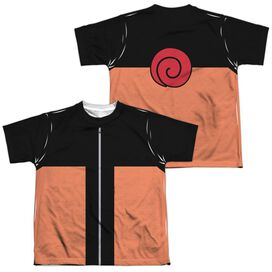 Naruto Shippuden Costume (Front Back Print) Short Sleeve Youth Poly Crew T-Shirt