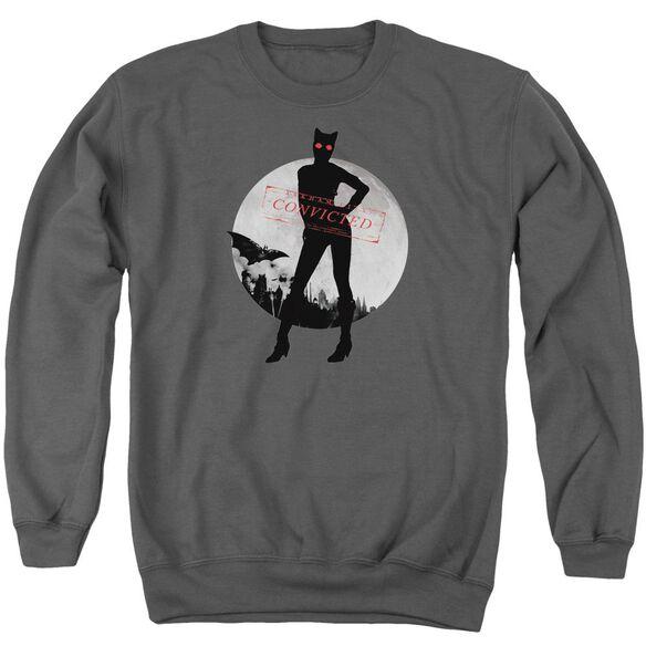 Arkham City Catwoman Convicted Adult Crewneck Sweatshirt