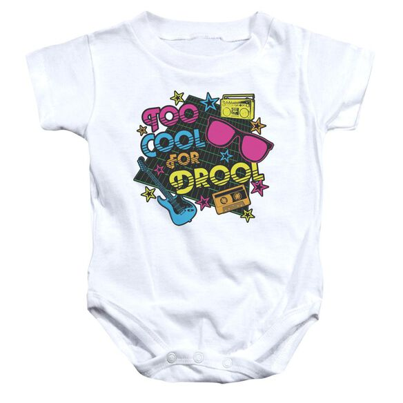 Too Cool For Drool Infant Snapsuit White Md