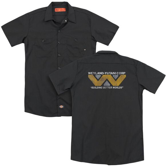 Alien Weyland(Back Print) Adult Work Shirt