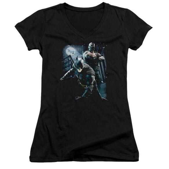 Dark Knight Rises Battlefield Gotham Junior V Neck T-Shirt