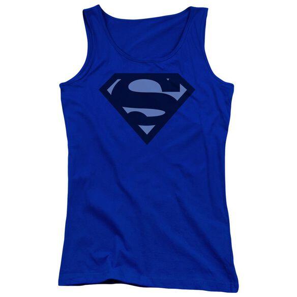 Superman Blue Shield Juniors Tank Top