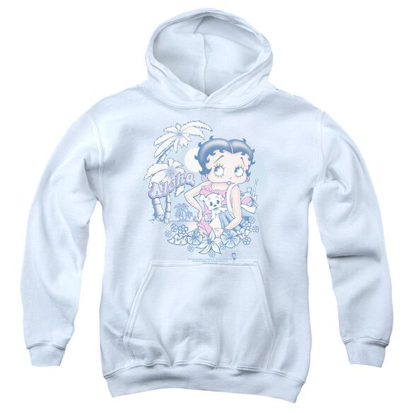 Betty Boop Aloha Youth Pull Over Hoodie