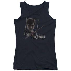 Harry Potter Harrys Wand Portrait-juniors Tank Top