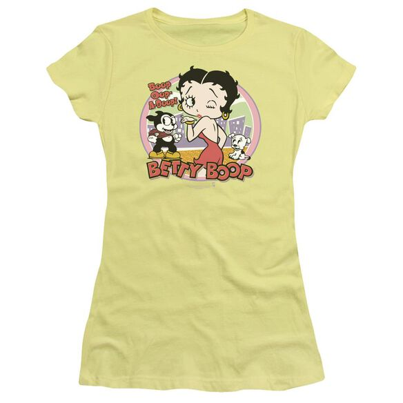 Betty Boop Kiss Short Sleeve Junior Sheer T-Shirt