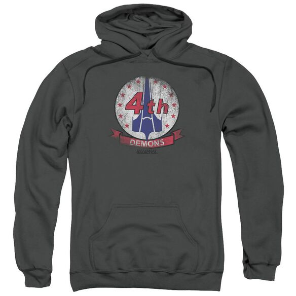 Bsg Demons Badge Adult Pull Over Hoodie