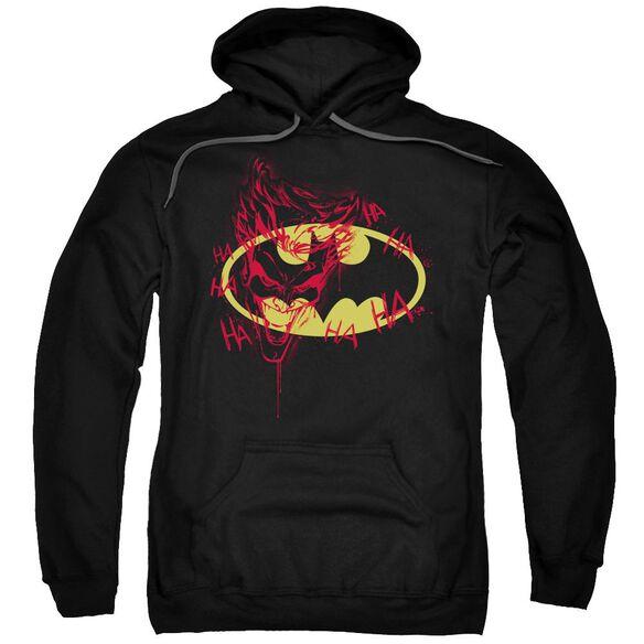 Batman Joker Graffiti Adult Pull Over Hoodie Black